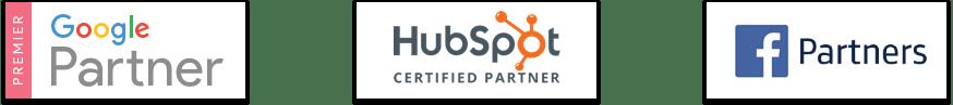 Premier Google Partner   HubSpot Certified Partner   Facebook Marketing Partners